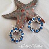Orecchini cerchio Azzurri con swarovski
