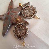 Orecchini Marilù oro e bronzo