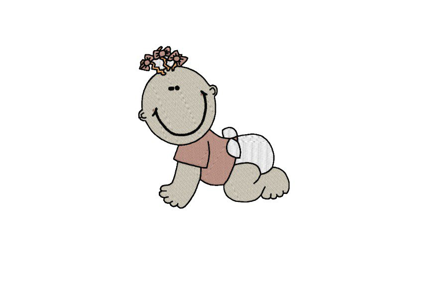 Baby ricamo digitale, embroidery design. INSTANT DOWNLOAD pdf + zip