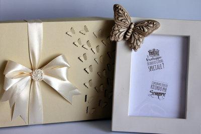 """Cornice portafoto """"Farfalle""""-bomboniera-regalo"""