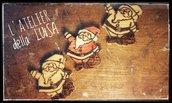 Calamite di Natale fatte a mano in legno pirografato
