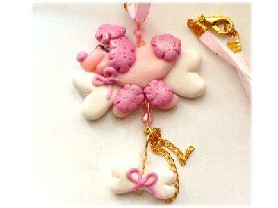Collana barboncino pink- cagnolino rosa