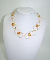collana Wire dorata