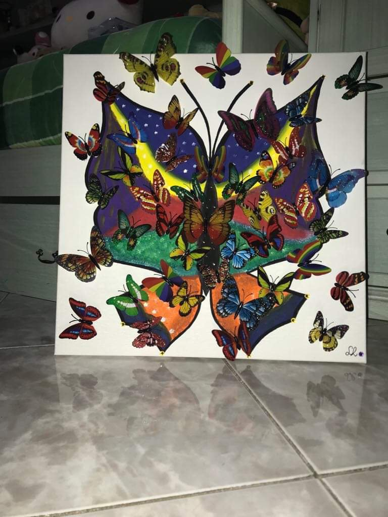 Butterflies in motion