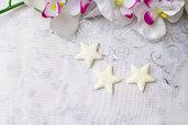 calamita stella in fimo, strar, pigmenti, calamita luccicosa, idee regalo ragazza, segnaposto, bomboniere segnaposto