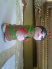 Geisha in porcellana fredda