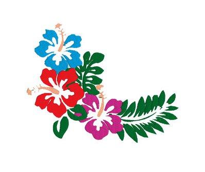 Fiori Hawaiani embroidery design, ricamo digitale. INSTANT DOWNLOAD zip + pdf