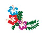 Fiori Hawaiani embroidery design, ricamo digitale. INSTANT DOWNLOAD zip + pdf