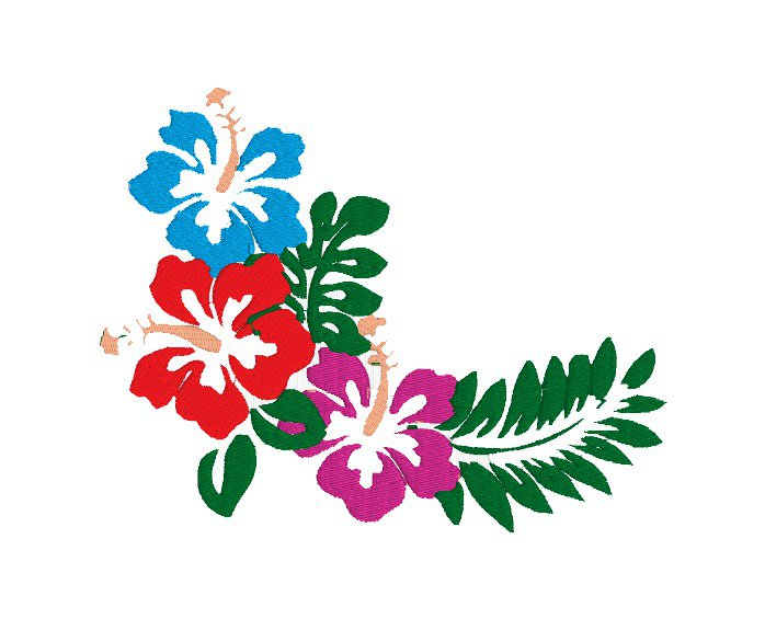 Fiori Hawaiani Disegni.Fiori Hawaiani Embroidery Design Ricamo Digitale Instant