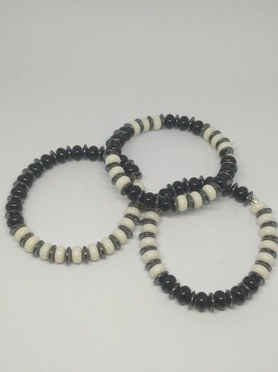 Tris di bracciali black&white unisex