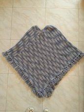Poncho mantella lana