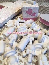 40 kit scatolina e gessetti profumati nascita battesimo bomboniera segnaposto bimba rosa