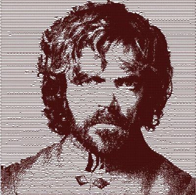 Tyrion Lannister photo stich embroidery design, il trono di spade ricamo digitale. INSTANT DOWNLOAD pdf + zip