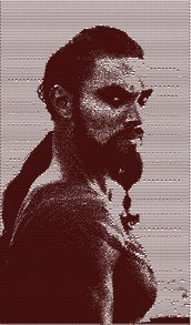 Kahal Drogo photo stich embroidery design, il trono di spade ricamo digitale. INSTANT DOWNLOAD pdf + zip