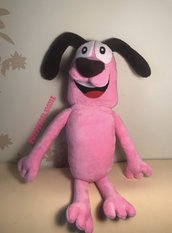 Peluche COURAGE The Cowardly Dog - Leone Cane Fifone