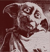 Dobby elfo domestico photo stich embroidery design, ricamo digitale. INSTANT DOWNLOAD zip + pdf
