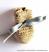 """Pattern - spiegazione per BOMBONIERA o PORTA BIJOUX o PORTA DENTINI """"clean & simple"""" a uncinetto crochet (idea regali)"""