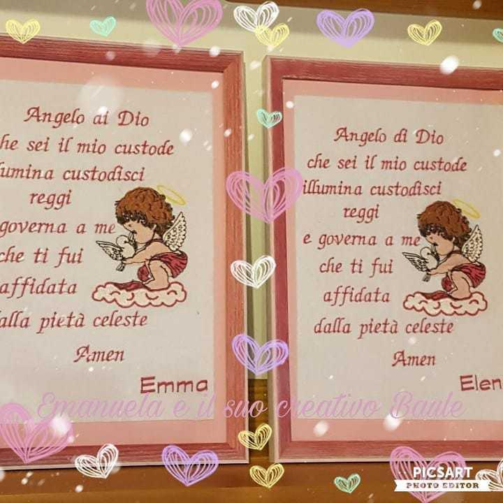 quadretto preghiera ANGELO CUSTODE