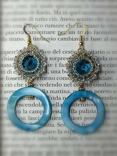"""""""SERENELLA"""" orecchini azzurri"""