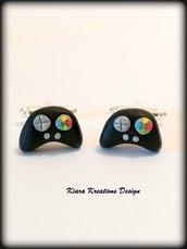 Gemelli uomo con controller per videogiochi in fimo, regalo per amanti dei videogiochi, gemelli sposo, gemelli da polso con joystick
