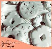 Gessi 100 gessetti profumati segnaposto biscotti pandistelle comunione matrimonio Cresima