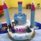 Torta scenografica Frozen Castello -gomma crepla