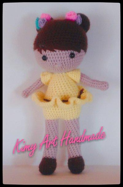 Bambola ballerina amigurumi