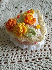 Bomboniere - fette di torta Amigurumi