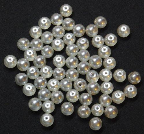Perline cerate avorio 10mm
