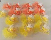 Cappellini segnaposto bomboniera confettata