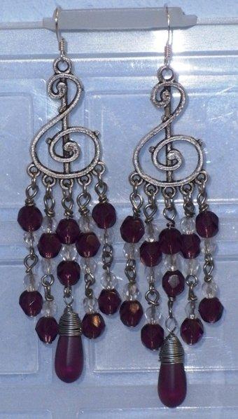 Orecchini chiave di violino viola