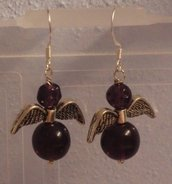 Orecchini angelo dark violet