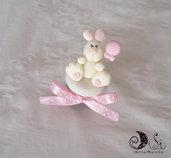 23 barattolini vasetti portaconfetti per battesimo o compleanno bimba coniglietto