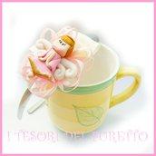 """Cerchietto """" Fufuangel rosa pastello """" angelo angioletto comunione cresima cerimonia idea regalo bambina personalizzabile accessori capelli"""