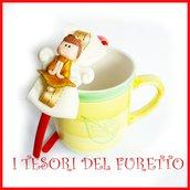 """Cerchietto """" Fufuangel oro """" angelo angioletto comunione cresima cerimonia idea regalo bambina personalizzabile accessori capelli"""