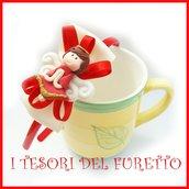 """Cerchietto """" Fufuangel rosso """" angelo angioletto comunione cresima cerimonia idea regalo bambina personalizzabile accessori capelli"""