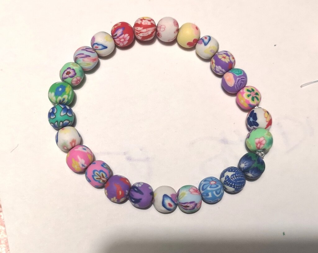 Bracciale in perle di fimo