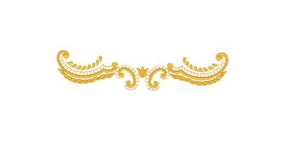Bordo #1 decoration embroidery design, ricamo digitale. INSTANT DOWNLOAD zip + pdf