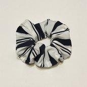 Elastico capelli fantasia a righe in cotone/Cotton Scrunchie