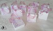 bomboniera borsetta portaconfetti gift bag angelo con cuore comunione