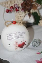 candela personalizzata tema amore