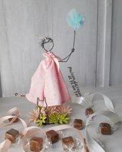 Cake topper  bambolina con aquilone