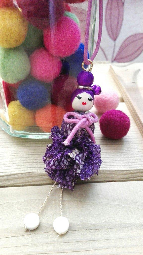 Ciondolo Bambola Viola