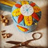 Cupcake puntaspilli floreale