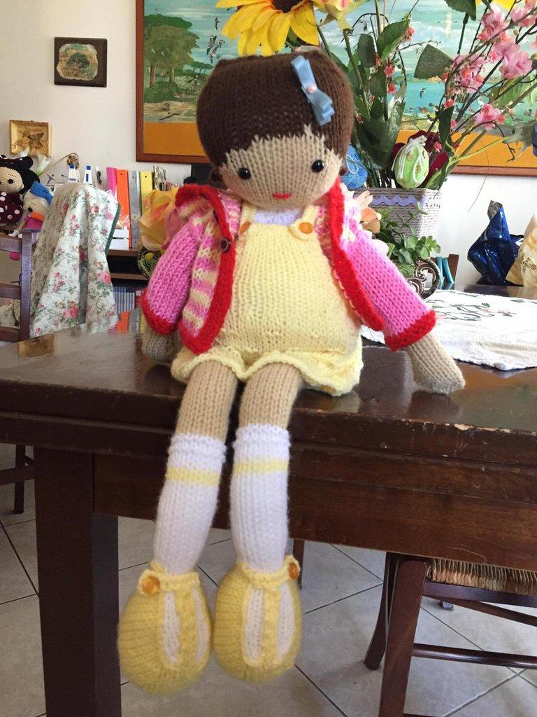 bambola in lana Alice