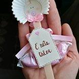 Bebè su stecco gelato con Tag - bomboniera