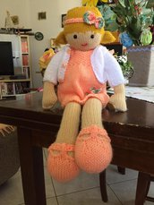 bambola in lana Sara