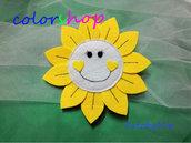 Fiore bomboniera segnaposto giallo per compleanni o qualsiasi evento