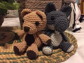 Portachiavi orso e lupacchiotto