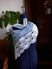 maxi scialle-stola maglia uncinetto